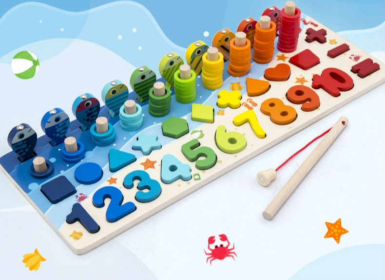 Montessori Educational Wooden Board with Numbers
